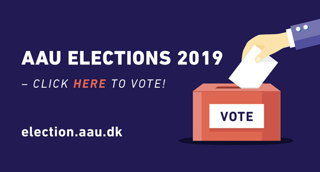 Elections at AAU - click here to vote